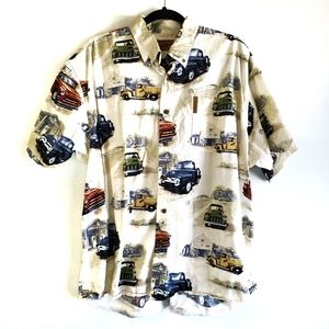 Clearwater Outtfitters Old Truck Button Down Shirt